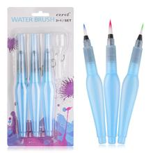 Dropper Calligraphy Painting Watercolor Gouache Nylon-Hair Portable 3pcs for And Contain