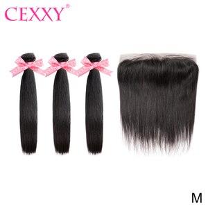 Zestawy CEXXY z przednim brazylijskim splotem włosów z zamknięciem Frontal Remy Hair 13*4 koronkowe przednie włosy do przedłużania włosów ludzkich