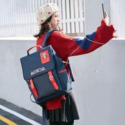 Torby dla kobiet plecak torba do przechowywania kobiet torba podróżna na zewnątrz komputer USB