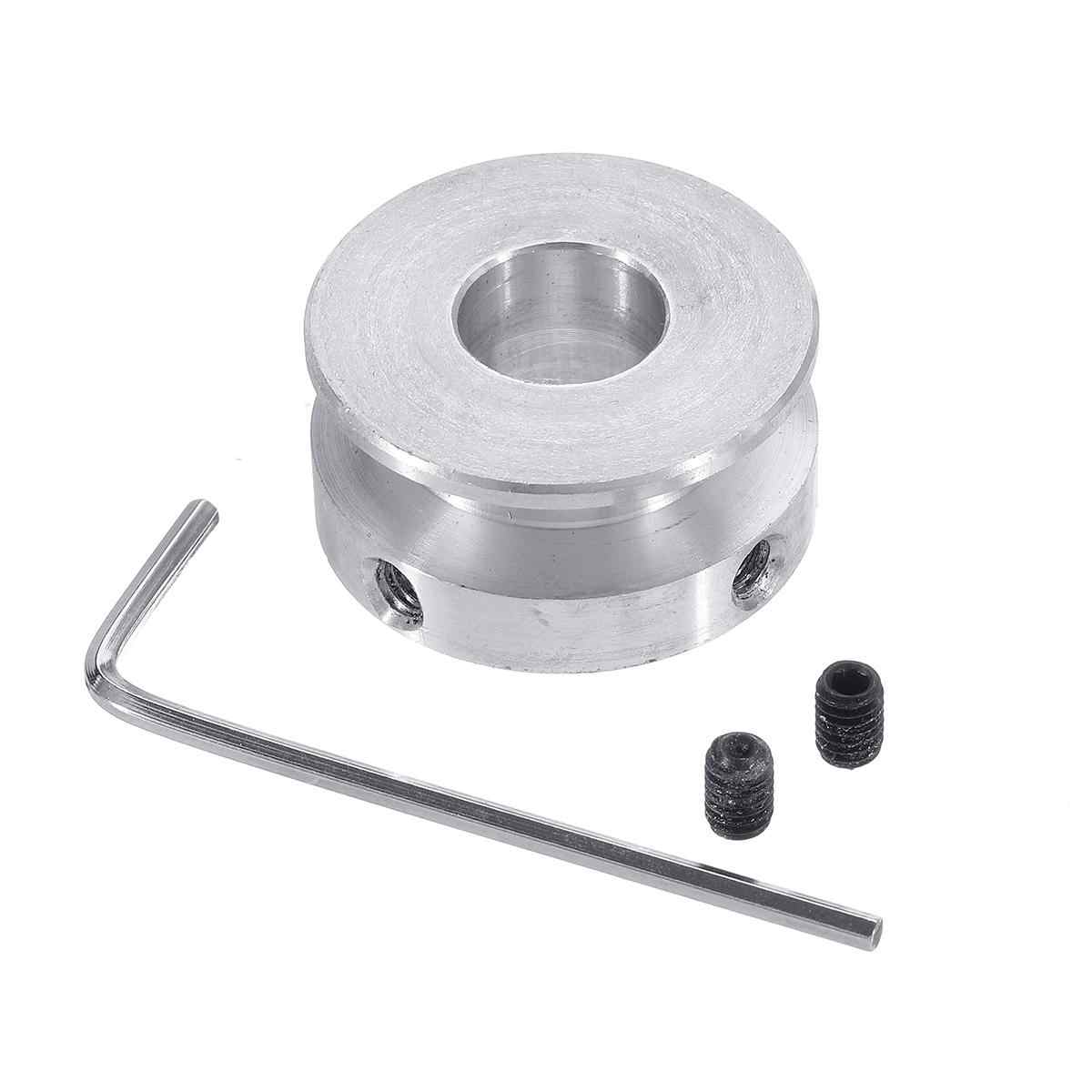 Width : 15mm JINSUO GQZMBM 1PC Silver Aluminum Alloy 30MM Single Groove Pulley 4-16MM Fixed Bore Pulley Wheel for Motor Shaft 6MM Round Belt