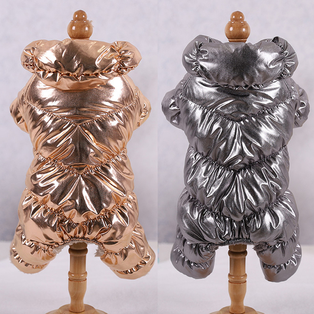 Dog Winter Metallic Coat