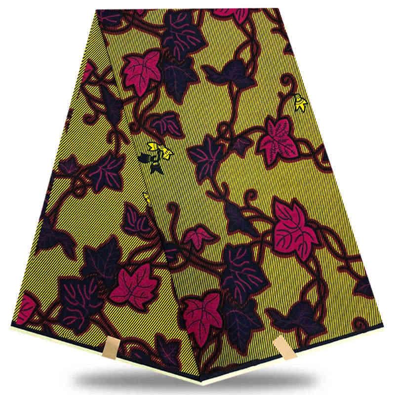 Мода голландский воск высокого качества Датская восковая 2019 Желтый цветной воск голландский батик в африканском стиле восковая печатная ткань 100% хлопок BGT004