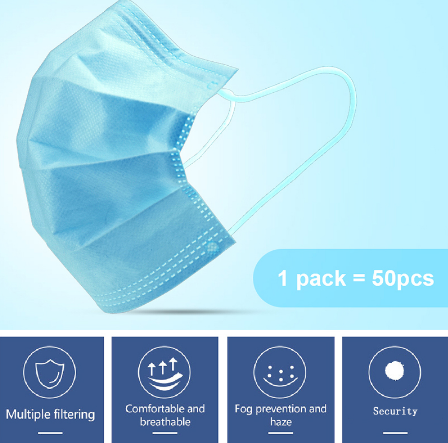 dhl free 200/300/500/800/1000pcs Disposable Face Mask Anti Virus flu Safety Masks safety Mask Face Mouth Mask 3