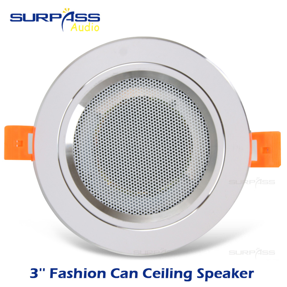 8Ohm 10W Bathroom Moisture-proof Aluminum Can Ceiling Speaker Background Music System Fashion In-cei