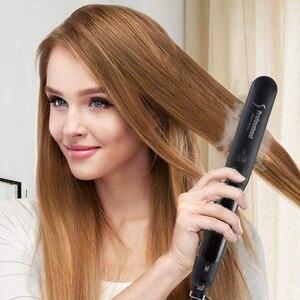 Image 2 - Выпрямитель для волос с плоским паровым утюгом профессиональный керамический паровой с аргановым маслом инфузионный выпрямляющий утюжок для волос Steampod