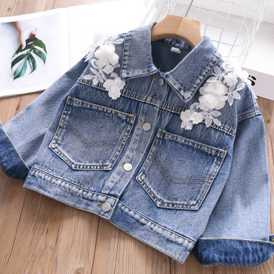 Denim  Leather Jacket  Children Clothing Coat 3