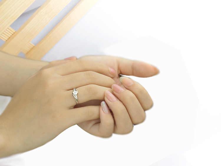 Mignon femme petit Zircon pierre anneau 925 argent bijoux de mariage promesse bagues de fiançailles pour les femmes 2019 saint valentin cadeaux