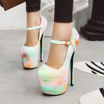 Karinluna New Arrivals High Large Size 50 Thin Heels Extreme High Platform Party Wedding Nightclub Women Shoes Woman Pumps