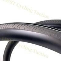 하이 엔드 45mm 38mm 50mm 카본 700c 클린져 림 25mm 에어로로드 림 자전거 림 자전거 림 클린져로드 바이크 카본 림