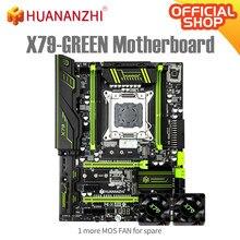 Материнская плата HUANANZHI X79, зеленая, 2,49, V3.1, X79, LGA2011, ATX, USB3.0, SATA3, PCI-E, NVME, M.2, SSD, поддержка памяти REG ECC и Xeon E5