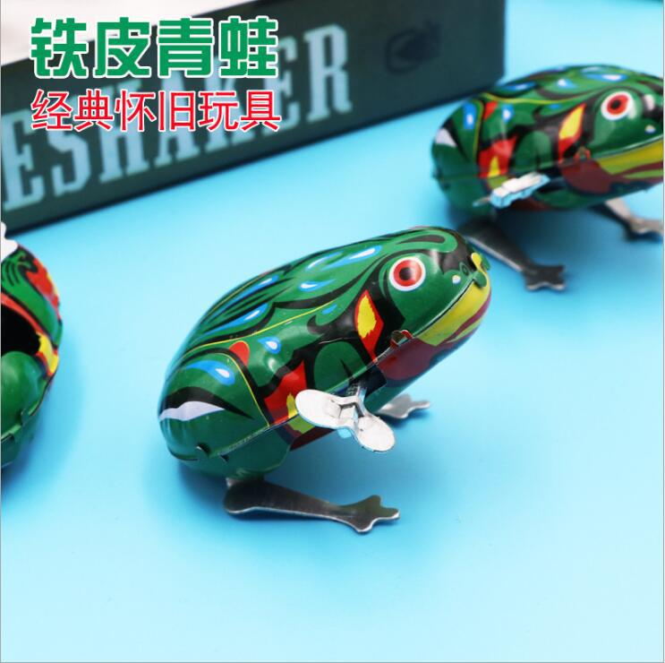 Spring Frog Jump Toy Algam Children Baby Leapfrog Classic 80 Nostalgic Animal Mainland China Jumping Frog