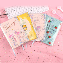 Creative sequins quicksand student notebook dreams into the rubber sleeve diary notebook notebook handbook password with lock diary student creative handbook notebook a5 notebook thick notebook diary