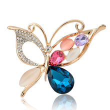 trendy popular vintage hollow crystal rhinestone needle brooch for women jewelry gift girlfriend
