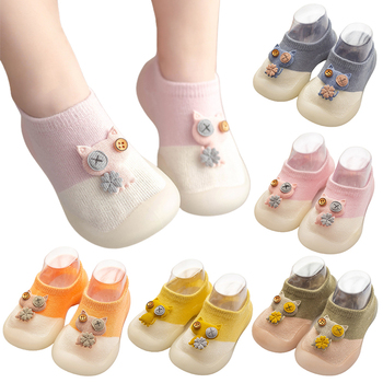 0-3 Years Baby Sock Shoes For Spring Autumn Cute Cat Style Cotton Shoes Breathable Soft Bottom Anti-slip Baby First Walker Shoes image