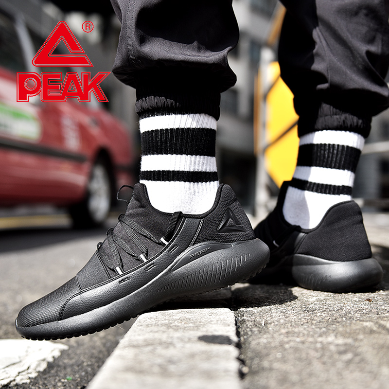 PEAK Men Running Shoes Lightweight Comfortable Durable Sports Shoes Autumn Winter Outdoor Fitness Jogging Sneakers
