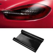 Матовая Черная Виниловая дымовая пленка наклейка для автомобиля Стайлинг для Porsche Panamera Cayenne Cayman, Macan 918 Автомобильная фара задняя фара туман свет