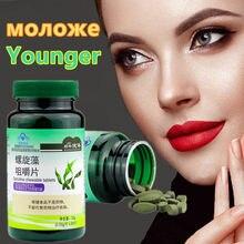 Tablette de spiruline riche en protéines, 60 comprimés, multi-vitamines, en poudre d'algues, Anti-Fatigue, perte de poids, santé, aliments