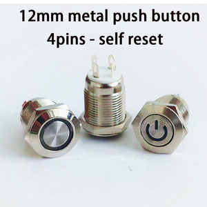 12mm metal push button swtich