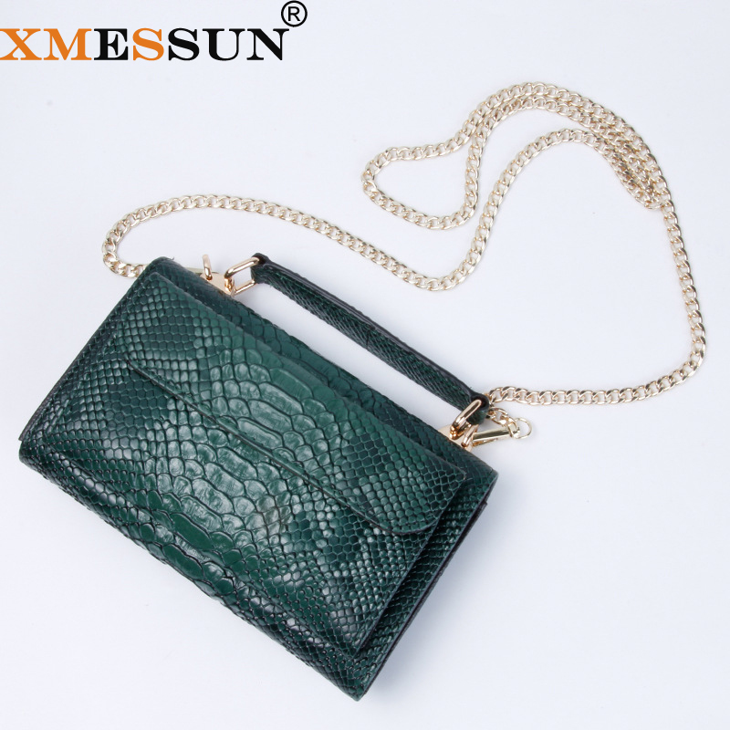 Chain Shoulder-Bags Crossbody-Bag Snake Skin Python Designer Real New-Fashion