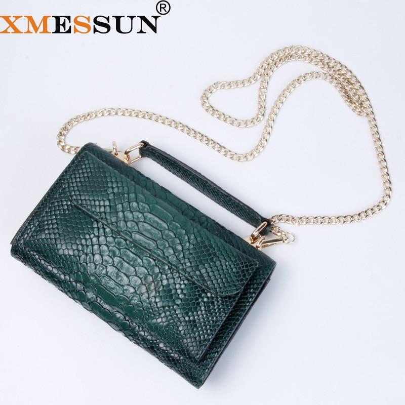 Real Python Snake Skin Designer Shoulder Bags Chain Crossbody Bag 2020 New Fashion Trendy BagShoulder Bags   -