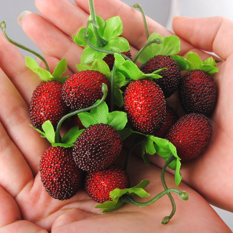 10pcs Home Decoration Artificial Flower Decoration Accessories Berry Raspberry Fruit Christmas Tree Fruit Lovely DIY Handmade