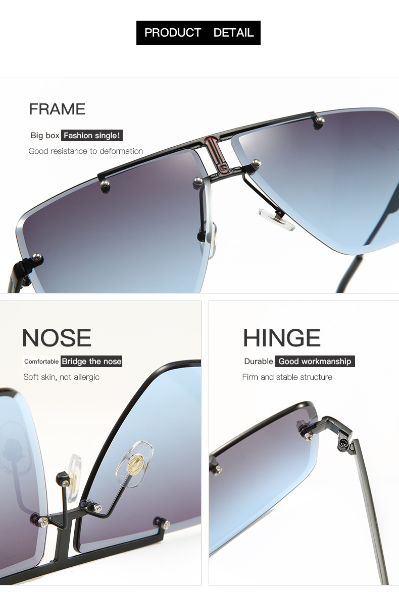 Hcb99c95b4133483cbacc8fde1bc758f2r - Square Rimless Sunglasses Men Summer New Fashion Sun Glasses Fashion Luxury Brand Shades for Women UV400 zonnebril Eyewear