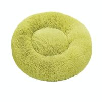grass green-Round Cat Beds House Soft Long Plush Best Pet Dog Bed For Dogs Basket Pet