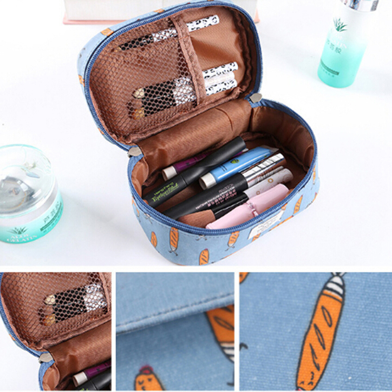 Large Capacity Girls Makeup Bag Animal Print Cosmetic Bag Women's Square Handbag Travel Organizer Toiletry Wash Bag Storage Case