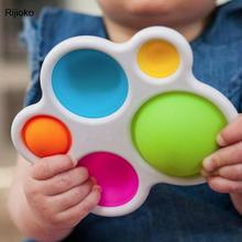Baby Toysexercise Board Rattle Puzzle Toy Colorful Kids Fidget Toys Intelligence Development Early Education Toy