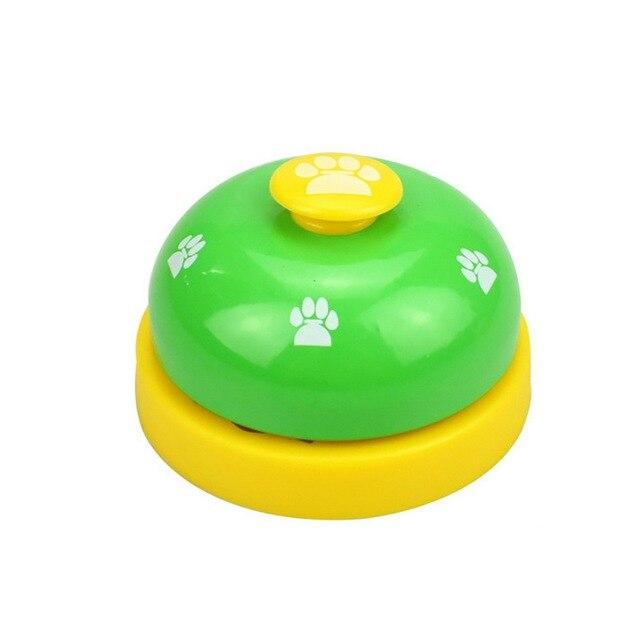 Quente interativa pet formação sino brinquedos novo animal de estimação chamada sino brinquedo gatinho filhote de cachorro alimentos lembrete de alimentação para o gato do cão