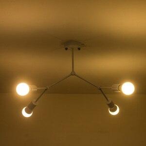 Image 4 - מודרני LED תקרת נברשת תאורת סלון חדר שינה מולקולרי נברשות מרובה ראשי Creative בית גופי תאורה