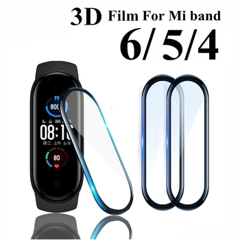 3D Glass for Xiaomi mi band 5 4 6 Soft Screen Protector Protective on Xiami Mi band band5 Miband5 Cover For Xiomi mi band 5 Film 1