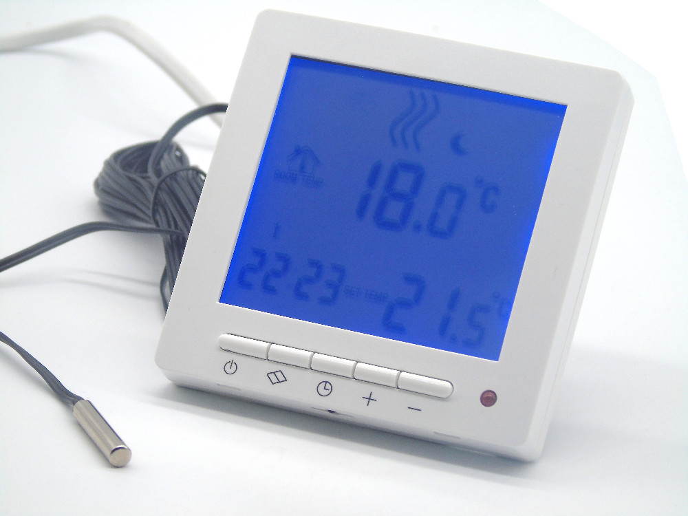 Dual Sensor Programmable Central Heating Controller  Floor Temperature Heating Thermostat Boiler Smart Home Thermostat