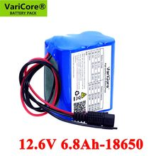 VariCore-paquete de baterías de litio recargables con placa protectora PCB, 12V, 6800mAh, 18650 V, 12,6 V, CCTV, Monitor de cámara, UES
