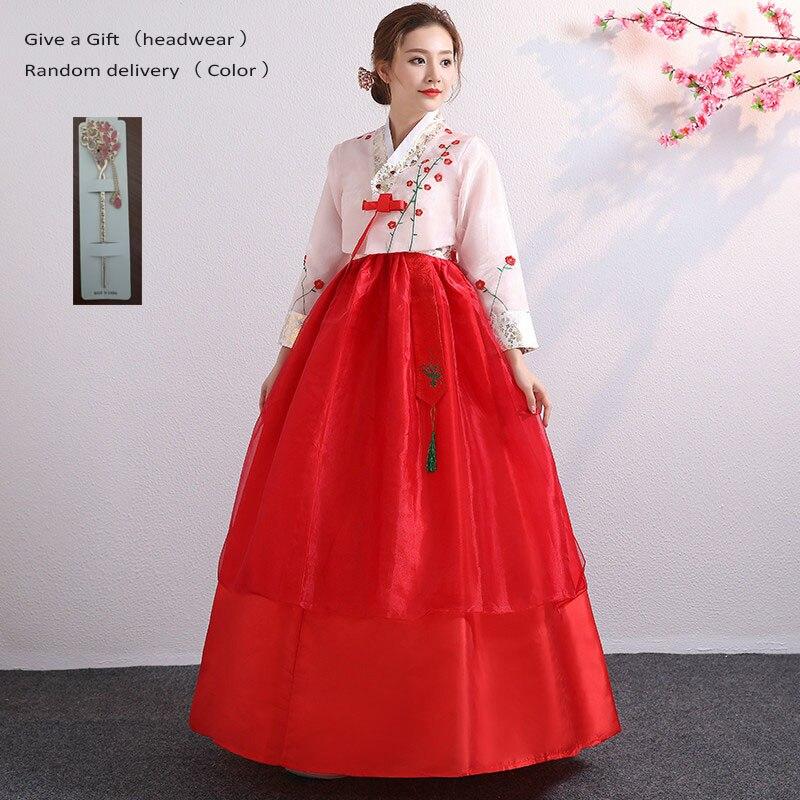 Koreanische Hanbok Traditionellen Leistung Kostüme für Frauen Elegante Hanbok Palace Korea Hochzeit Oriantal Dance Kostüm