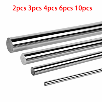 2 3 4 6 10pcs Optical Axis 200 300 400 500 600mm Smooth Rods 6-12mm Linear Shaft Rail 3D Printers Chrome Plated Guide Slide Part optical axis od 8mm 10mm 12mm 2pcs linear shaft cylinder linear rail smooth round rod length 300mm 600mm for 3d printer parts