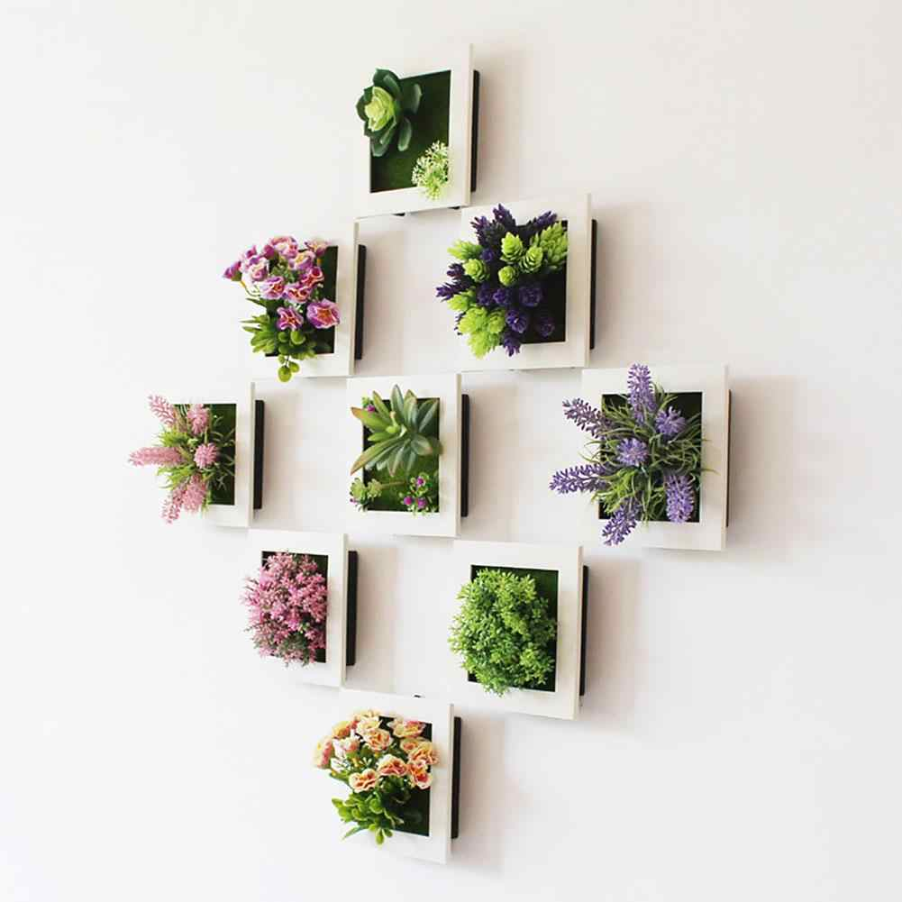 15*15*3 Removable Artificial Flower Plant Frame DIY Wall Decor Frames 3D Wall Sticker Frame for Room Decoration Home Decor