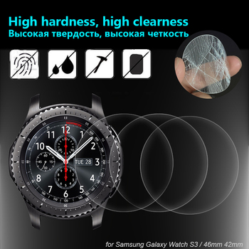 3 Pieces Tempered Glass Protection For Samsung Galaxy Watch 42mm 46mm For Gear S3 Smart Watch 9H Screen Protector Glass Film 2pcs pack tempered glass screen protector watch screen protective films for samsung galaxy watch 42 46mm