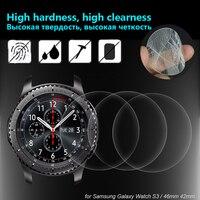 Película vidro temperado para relógio smart  película protetora de vidro para samsung galaxy watch 42mm 46mm para gear s3 9h película de vidro protetora de tela
