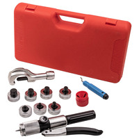 7 Lever Hydraulic Tubing Expander Punches Tube Swaging Tool Kit Reamer Cutter