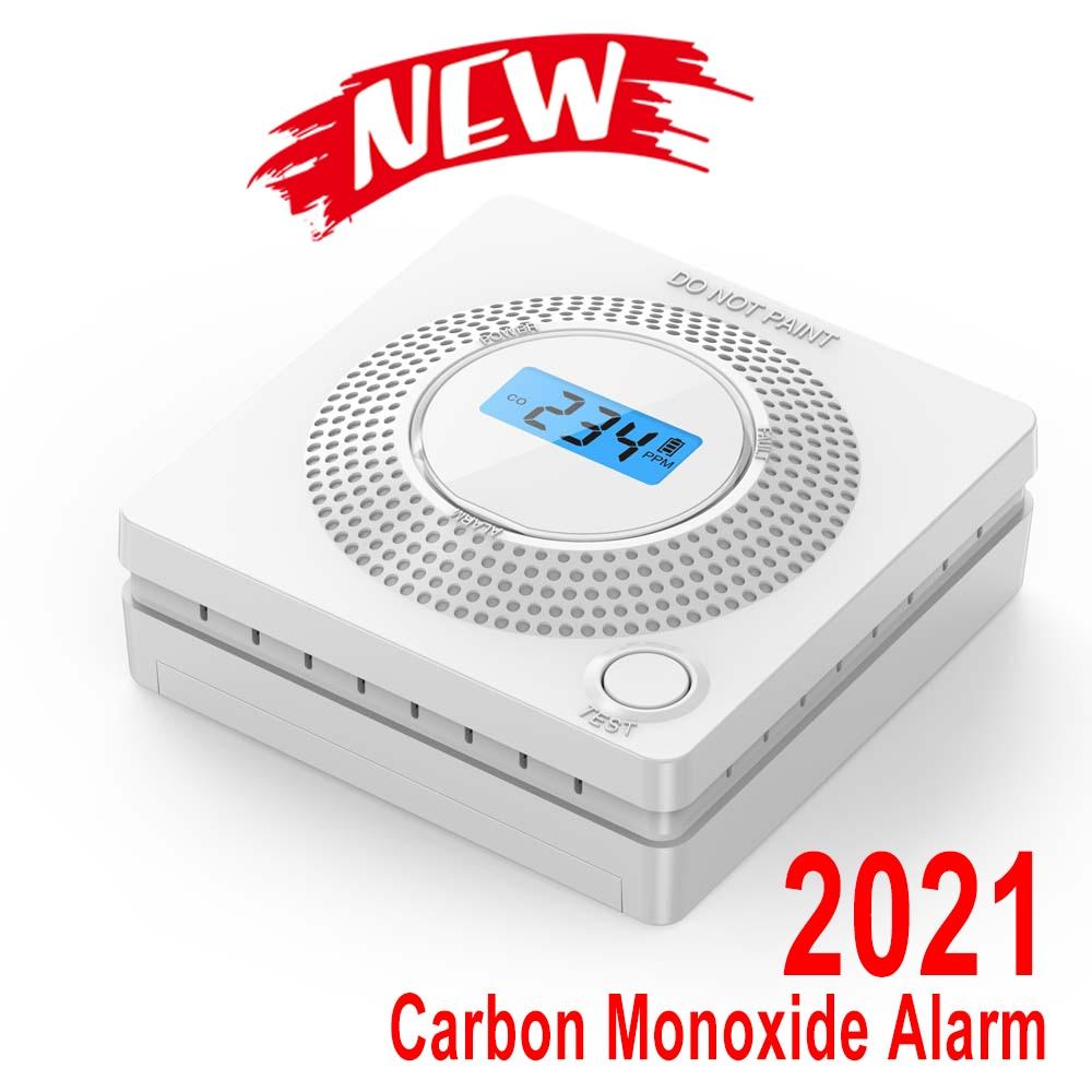 2 Pieces Smart House CO Detector Warning Alarm Carbon Monoxide Monitor Sensor Poisoning Gas Detector For Home Security Alarm