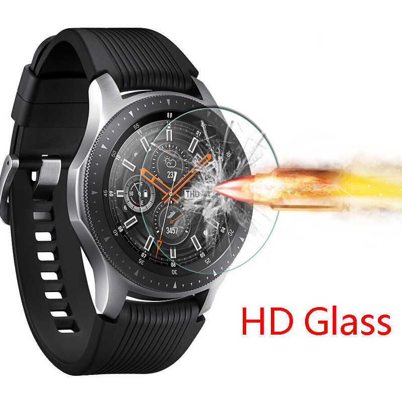 active 2 Strap for samsung gear s3 Frontier Full screen protector Tempered Glass bracelet soft Film galaxy watch 46mm 44mm 40mm