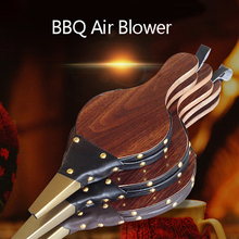 BBQ Air Blower Bonfire Campfire Brown Tool Fireplace Wood Bellows Wood Barbecue