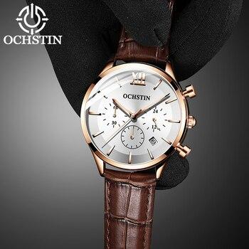 Best Sell Watch Men OCHSTIN Fashion Rose gold Military Date Sport Quartz Analog WristWatch relogio masculino erkek kol saati