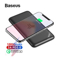 Baseus Wireless Power Bank 10000mah Quick Charge 3.0+PD3.0 Portable External Battery Charger Powerbank For iPhone Samsung Xiaomi