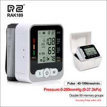RZ Wrist Blood Pressure Monitor Case Digital Blood Pressure Meter With Voice Portable Automatic Tonometer Sphygmomanometer