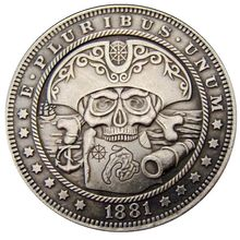 American Pirate Nickel Coin Skeleton Morgan Dollar COPY COIN Commemorative Coin Eagle Claw Collection Coin Dollar Us Coins single custom coins low price us army challenge coin metal milirary coins hot sale american coin fh810251