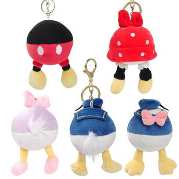 Disney oryginalna Mickey Minnie Butt Bag wisiorek brelok do kluczyków samochodowych pluszowa lalka kaczor Donald pendantDoll Ornament tanie i dobre opinie CN (pochodzenie) NYLON Unisex Stałe Opaski na głowę 12 m