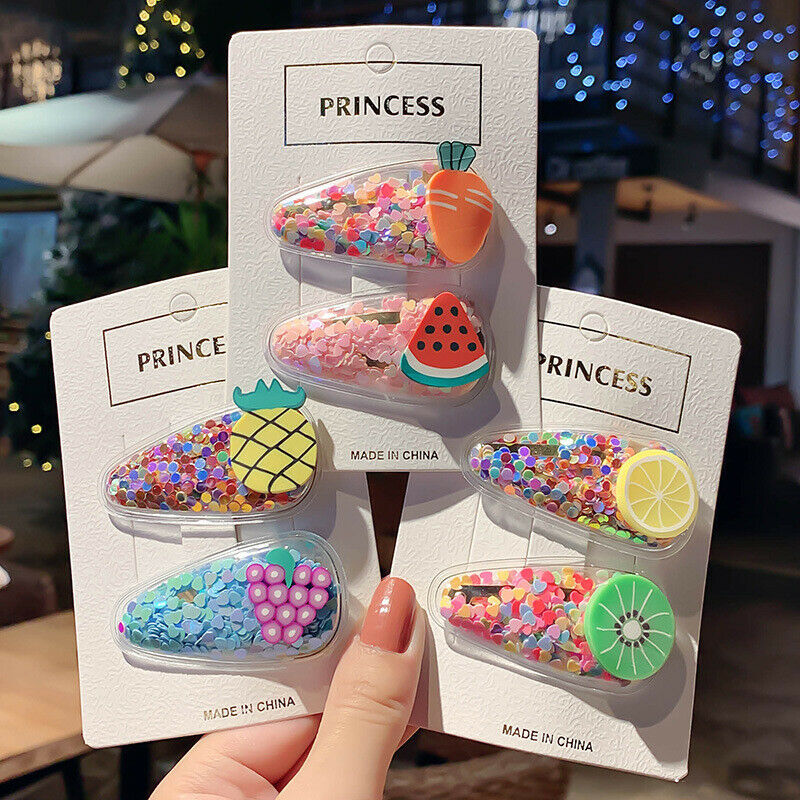 5Pcs/Pack Sequin Color Hairpins Snap Hair Clip Women Baby Girls Barrettes Clips Barrettes Hair Ornament Children Hairpins