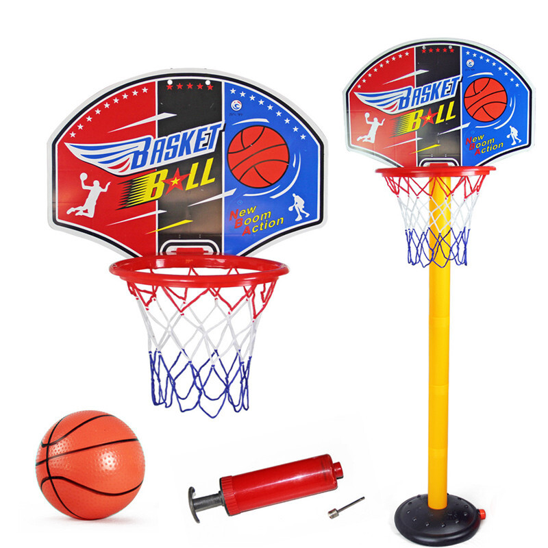 Basketball Hoop Set For Kids Adjustable Portable Basketball Stand Sport Game Play Set Net Ball And Air Pump Toddler Baby Sport